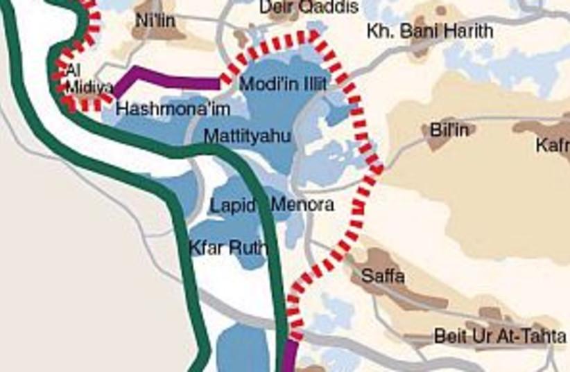 bilin map 298 btselem (photo credit: B'tselem)