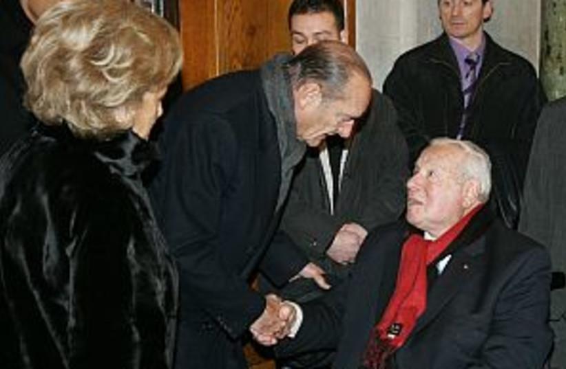 chirac french synagogue  (photo credit: AP)