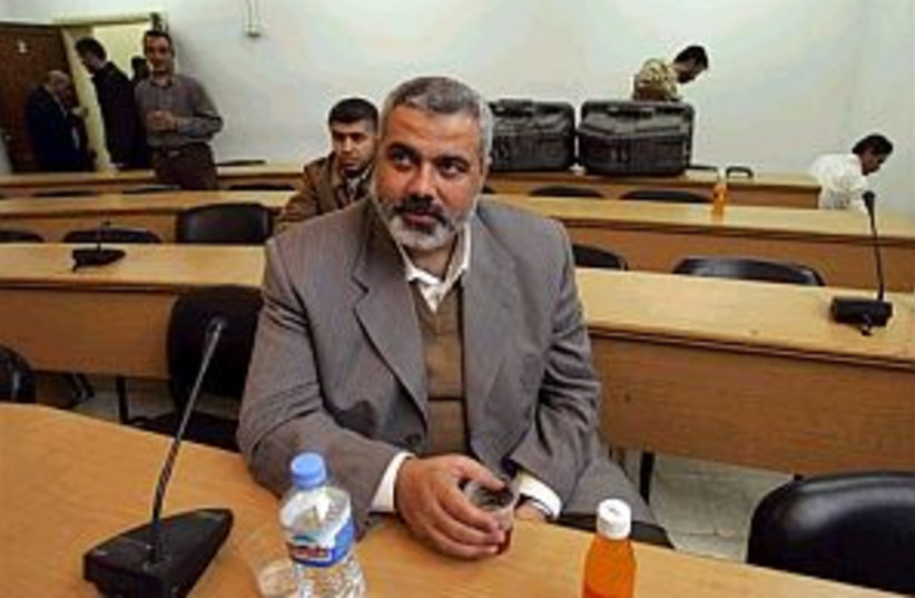 haniyeh waiting 298 (photo credit: AP)