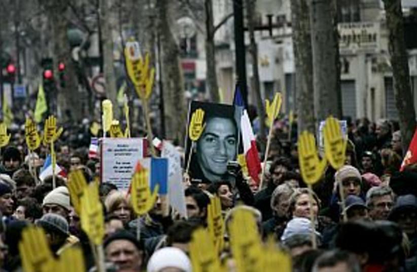 paris march halimi 298 (photo credit: AP)