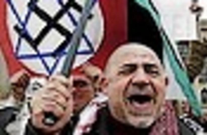 anti-israel nazi 88 (photo credit: AP)