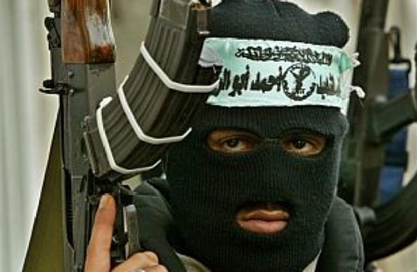 Fatah-affiliated gunman (photo credit: AP)