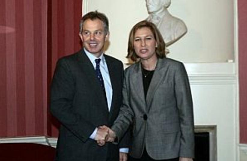 Livni Blair 298.88 (photo credit: AP)