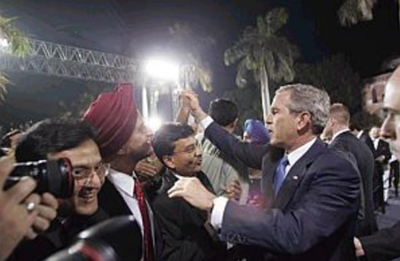 bush in india 298.88 (photo credit: Associated Press)