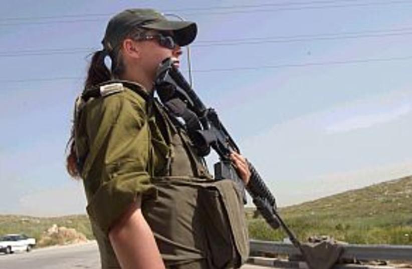 female soldier girl look (photo credit: Ariel Jerozolimski)