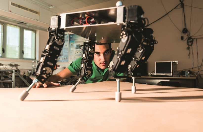 Robots in Prof Amir Shapiro's lab at the Ben-Gurion University of the Negev (photo credit: DANI MACHLIS/BEN-GURION UNIVERSITY OF THE NEGEV)