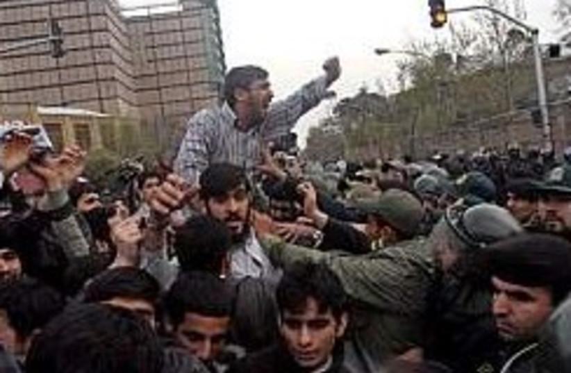 Iranians Protest Embassy248.88 (photo credit: )