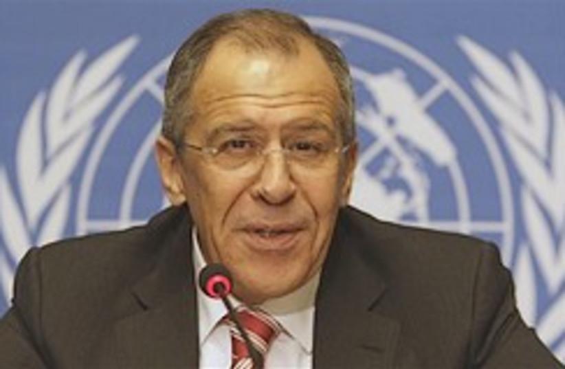 Lavrov press UN 248.88 ap (photo credit: AP [file])