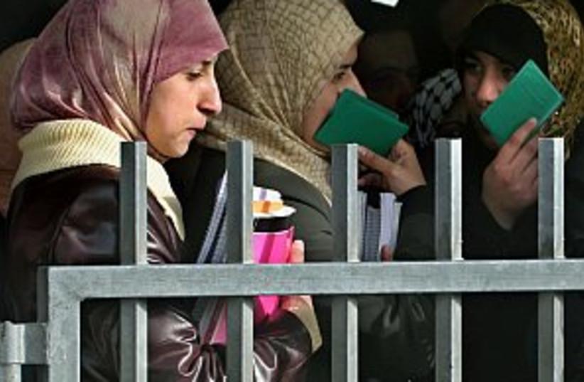 women at hawara 298 (photo credit: AP [file])