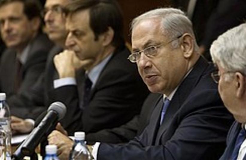 Netanyahu cabinet meeting 248.88 (photo credit: AP)