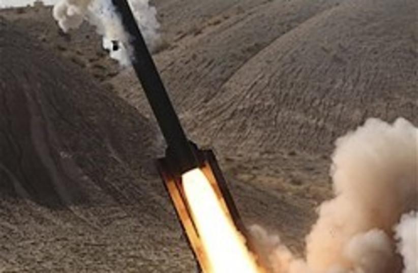 Iran missle Zelzal launch 248.88 ap (photo credit: AP)