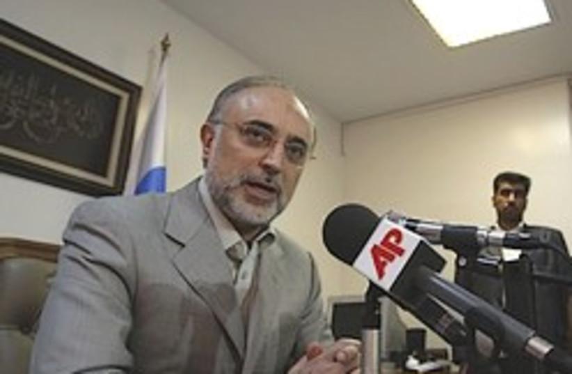 salehi talks to the press 248 88 (photo credit: )