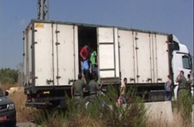 palestinians illegal truck 248 88 (photo credit: Courtesy of the Border Police)