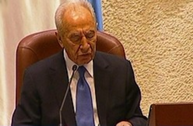 peres knesset 248.88 (photo credit: Knesset Channel)