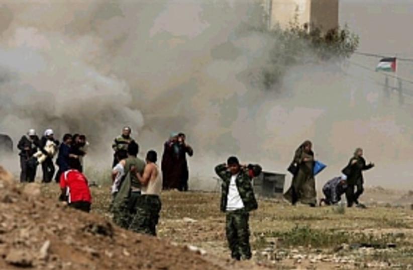 jericho prison smoke ap  (photo credit: AP)