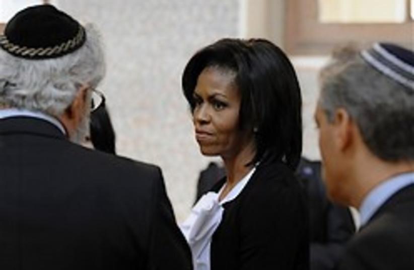 michelle obama jew quarter prague 248.88 (photo credit: AP)