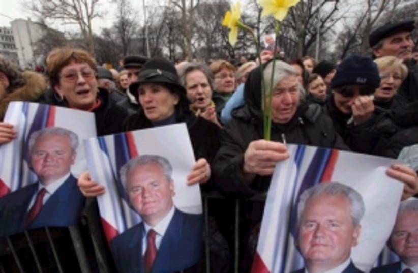 milosevic funeral 298.88 (photo credit: Associated Press)