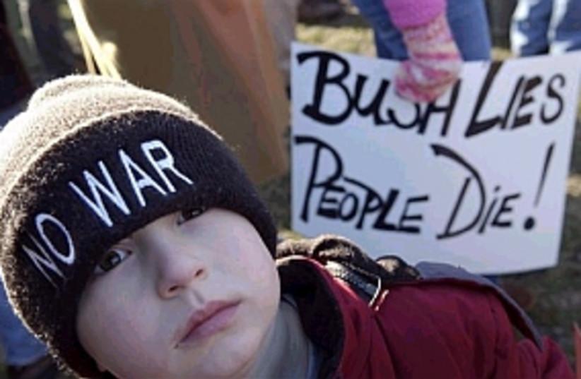iraq protest us (photo credit: AP)