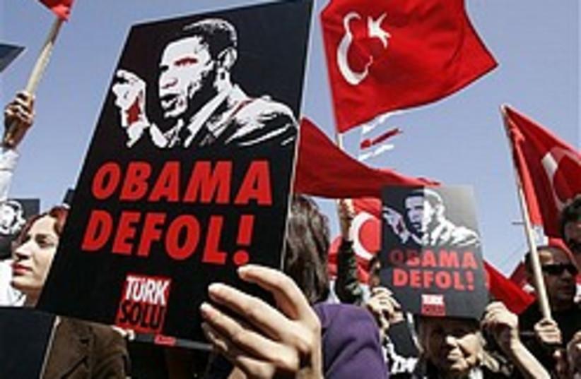 anti-obama protest turkey 248 88 ap (photo credit: AP)