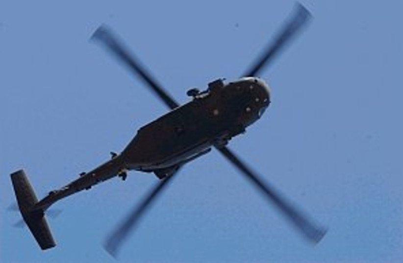 helicopter 298 (photo credit: Ariel Jerozolimski)