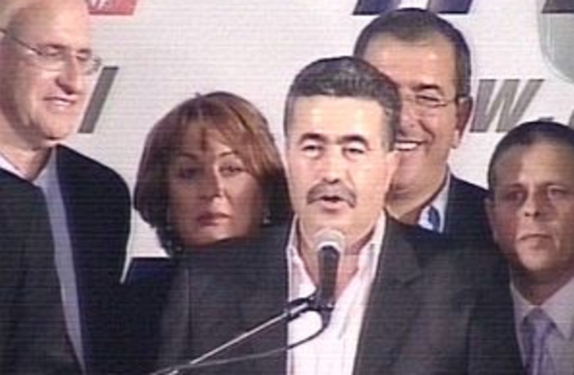 peretz after election298 (photo credit: Channel 2)