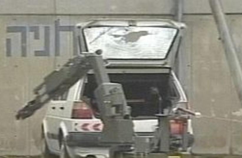 Sapper car 298.88 (photo credit: Channel 99)