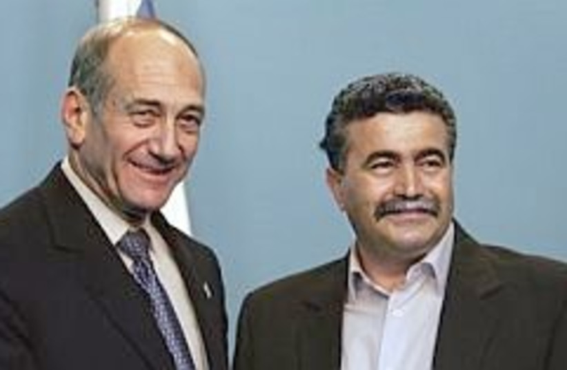 Olmert Peretz AP 298 (photo credit: AP [file])