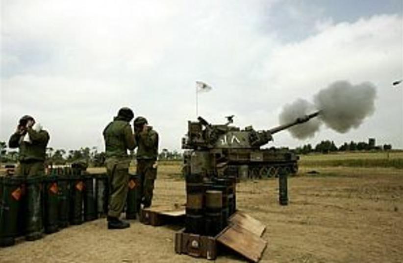 idf artillery great pic  (photo credit: AP)
