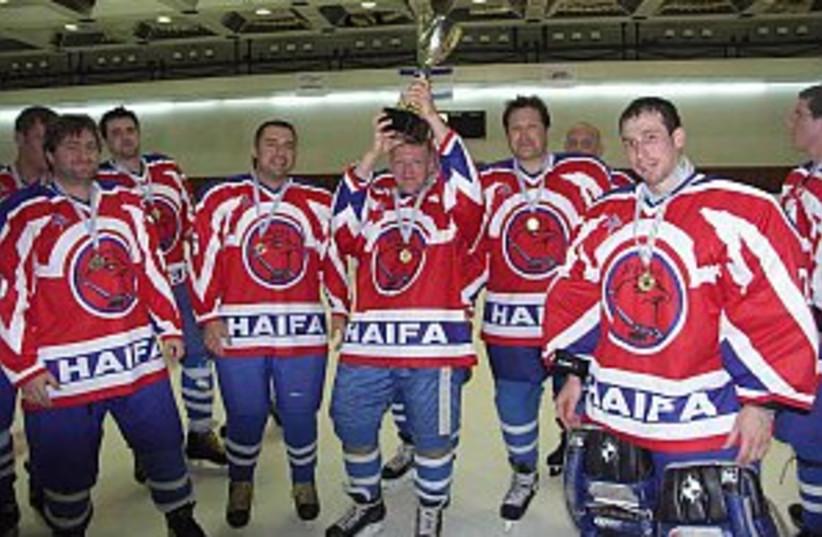 Haifa ice hockey 298.88 (photo credit: Lionel Gaffen/Fotomix)