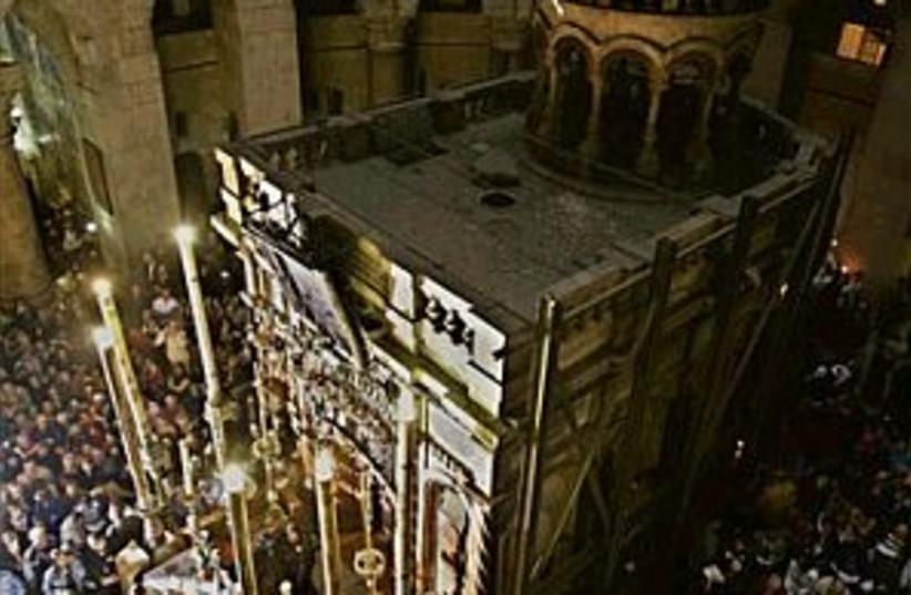 church sepulcher 298.88 (photo credit: Associated Press)