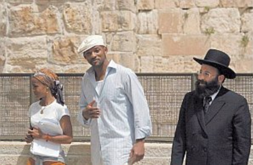 will smith western wall (photo credit: AP)