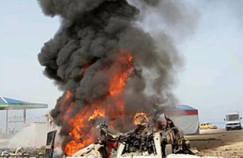 air strike gaza on Islam (photo credit: AP)