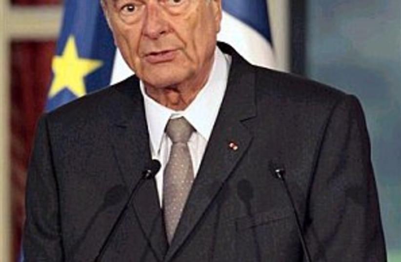 chirac speaks 298.88 (photo credit: AP)