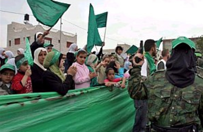 hamas rally 298.88 (photo credit: AP)
