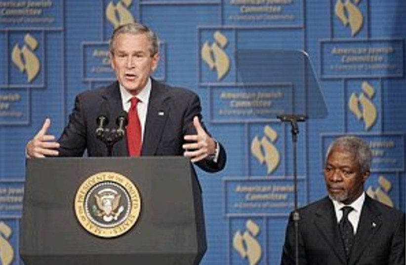 Bush 298.88 (photo credit: AP)