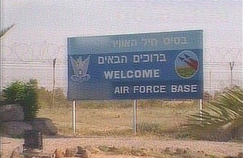 airforcebasesign 298 (photo credit: Channel 10)