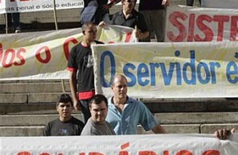 brazil protest 298.88 (photo credit: AP)
