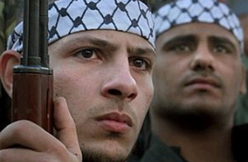 Fatah gunmen 298.88 (photo credit: AP [file])