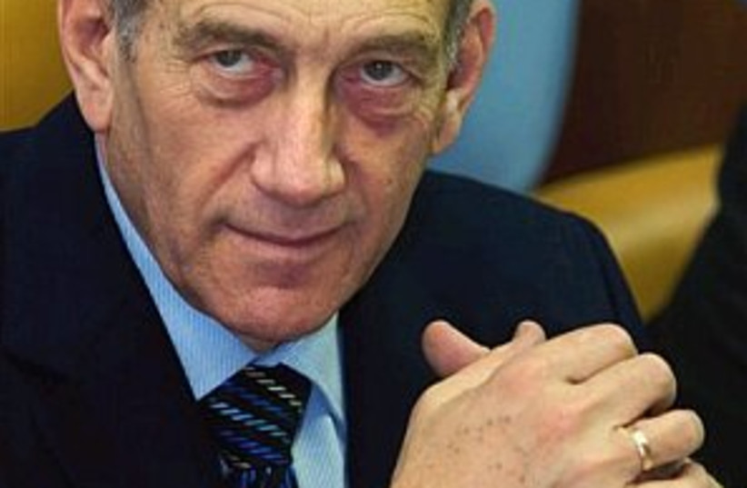 Olmert pissed off 298 (photo credit: AP [file])