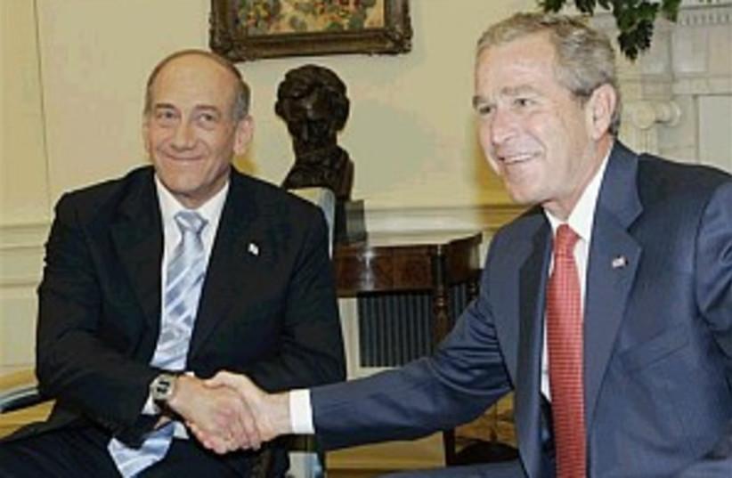bush olmert 298 88ap (photo credit: AP [file])