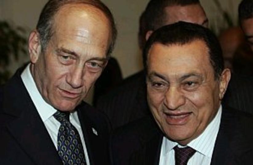 mubarak olmert 298 88ap (photo credit: AP [file])