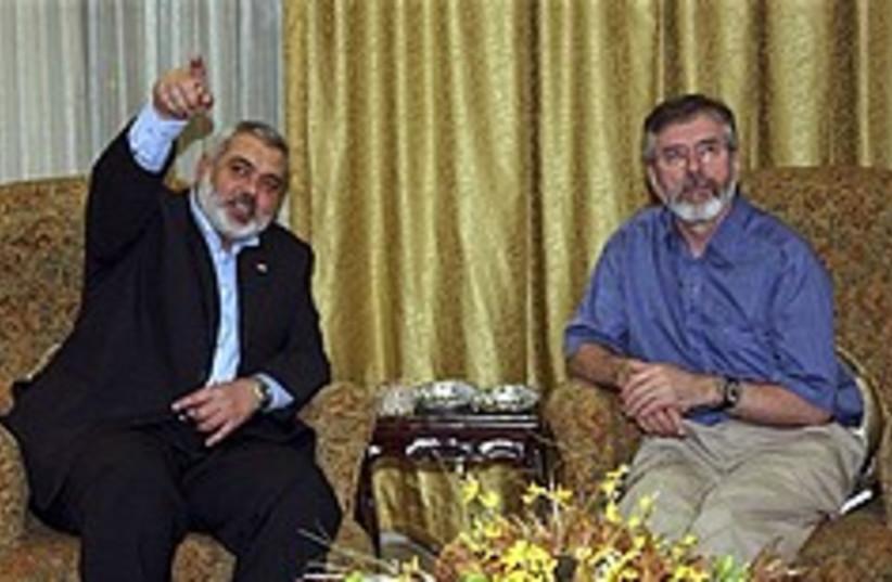 haniyeh gerry adams 248 88 ap (photo credit: AP)