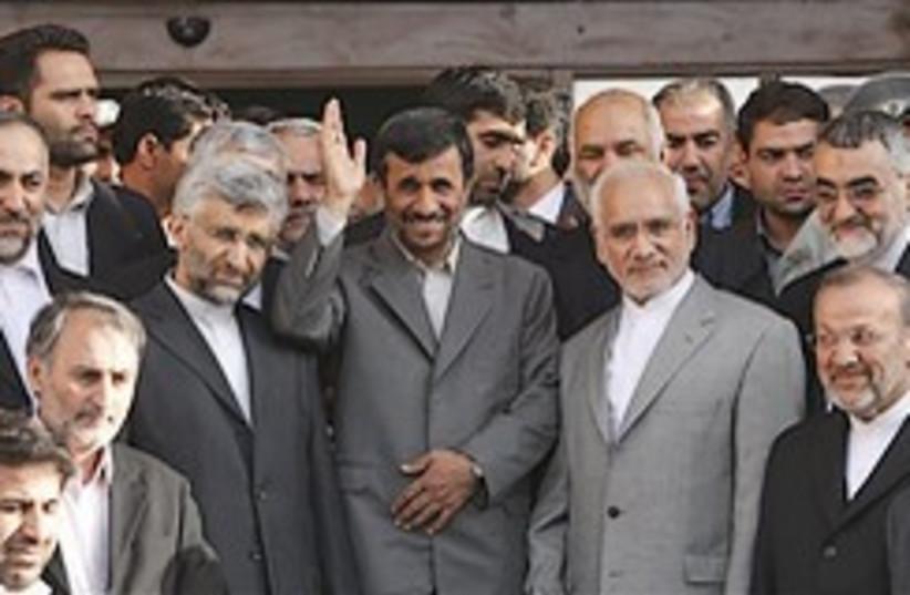 Ahmadinejad and nuke buddies 248.88 (photo credit: AP [file])