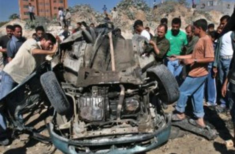 gaza car missile 298.88 (photo credit: AP)