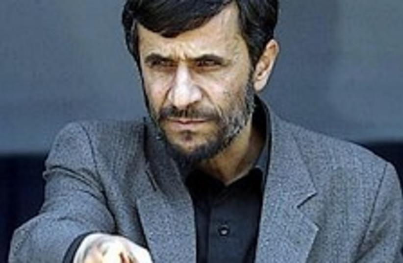 Ahmadinejad badass2  298 (photo credit: AP)