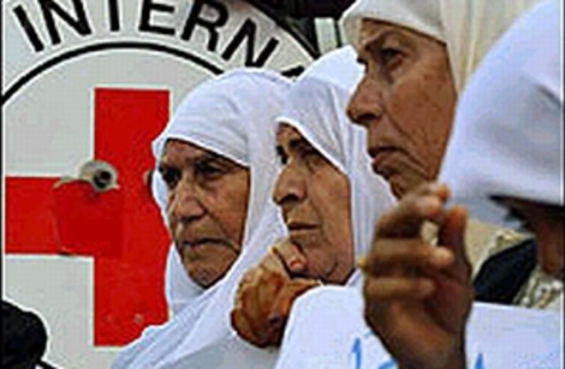 red cross in gaza ap 298 (photo credit: AP [file])