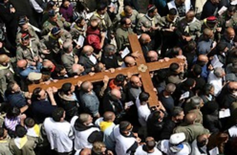 Christians Easter 2009 248.88 (photo credit: Ariel Jerozolimksi )