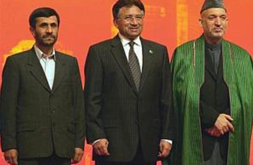 ahmadinejad, musharaff,  (photo credit: AP [file])