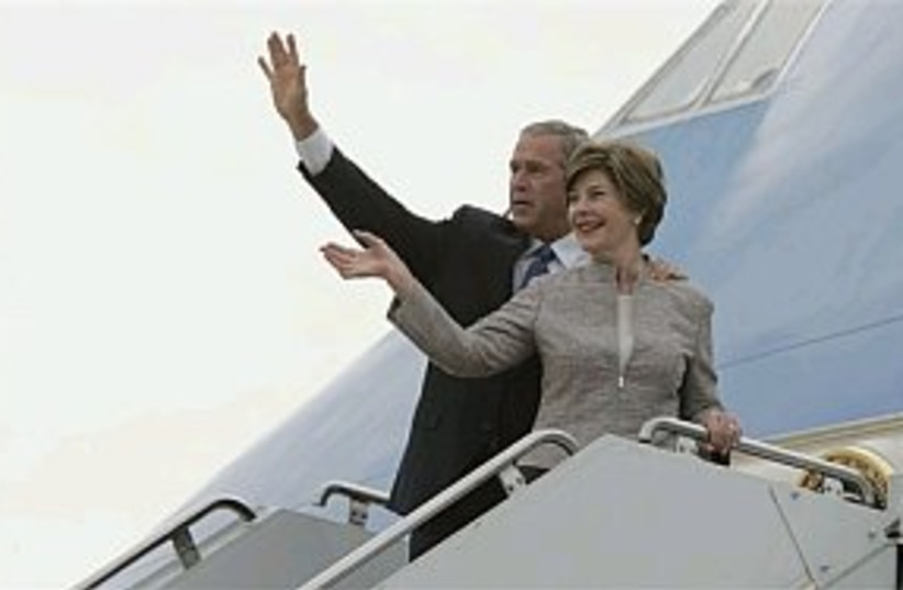 bush hungary 298.88 (photo credit: Associated Press)