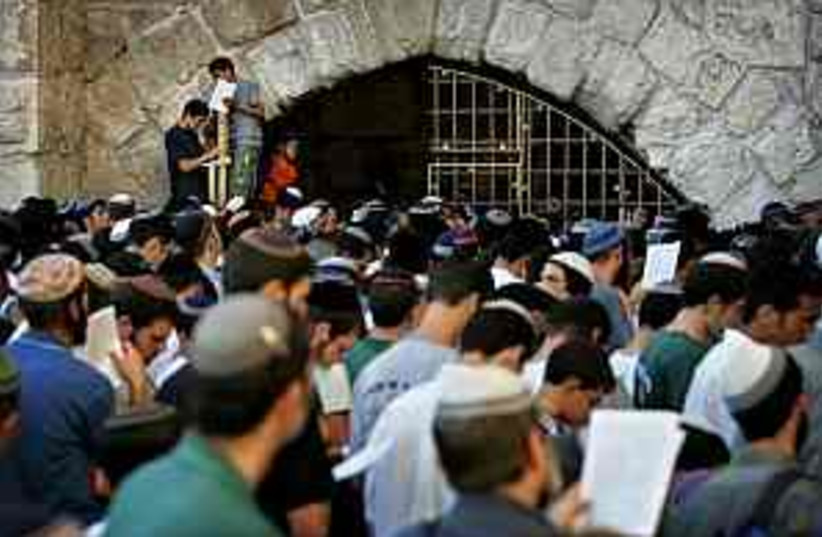 praying for shalit 298  (photo credit: AP)